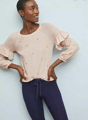 $ CDN39.76 • Buy NWT Anthropologie Sundry Lovely Top Size 1 Small Pink Heart Valentines Day