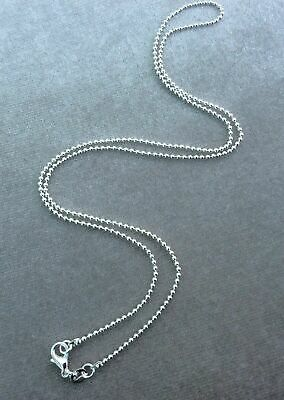 925 Silver Ball Bead 1.5mm Chain Necklace Lobster Clasp All Inch Sizes Uk Seller • 2.65£