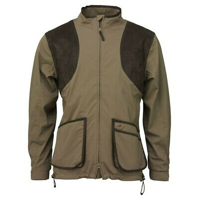 Mens Laksen Clay Shooting Jacket With Mesh Lining In Navy & Green - All Sizes  • 159£