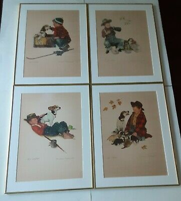 $ CDN12759.01 • Buy Four(4) Original Norman Rockwell AP Limited Edition Brown & Bigelow Lithographs