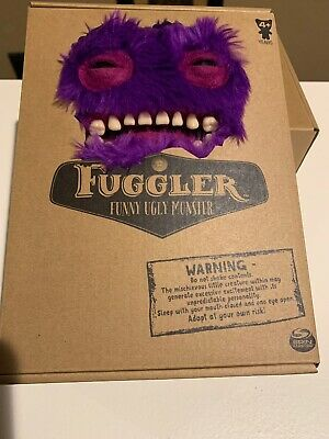 $ CDN44.39 • Buy Rare Spin Master Fuggler Purple Furry Mr. Buttons Plush Monster