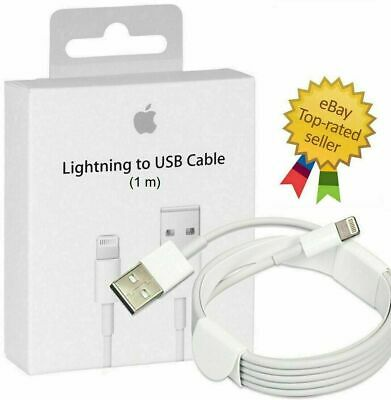 AU5.65 • Buy High Quality Genuine Apple1M Lightning Charger Cable IPhone IPad 7 X 8 6 5