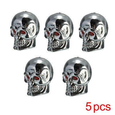 $ CDN2.47 • Buy 5Pcs Car Skull Wheel Tyre Tire Stem Air Valve Cap Anti Dust Cover Universal