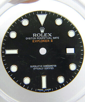 $ CDN198.59 • Buy Genuine Rolex 42mm Explorer II 216570 Glossy Black Orange Watch Dial SWISS MADE
