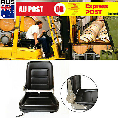 AU59.99 • Buy Forklift Seat Chair Adjustable Leather Bobcat Tractor Excavator Machinery O