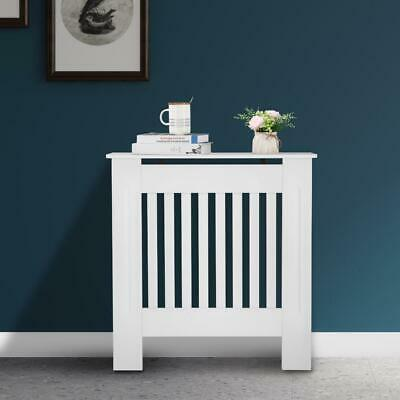 £31.95 • Buy Modern Radiator Cover Wall Cabinet Furniture Slats MDF Wood White Painted Small