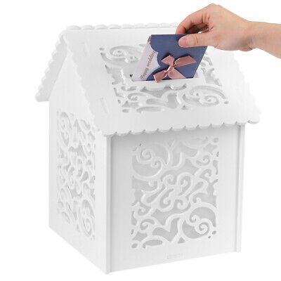 £4.99 • Buy Large Wedding Card Post Box Reception Gift Card Post Cards Wishes Cards Boxes