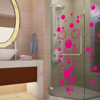 £3.61 • Buy Waterproof Removable Bubbles Wall Sticker Bathroom Shower Glass Decal Stickers