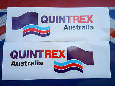 AU39.90 • Buy Laminated Decal Sticker Quintrex Boat Pack Of (2) TWO 430mm X 150mm FREE POSTAGE