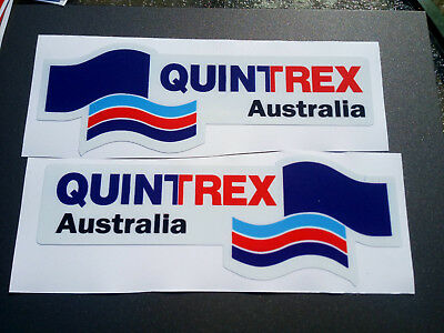 AU28.50 • Buy Laminated Decal Sticker Quintrex Boat Pack Of (2) 200x90mm FREE POSTAGE