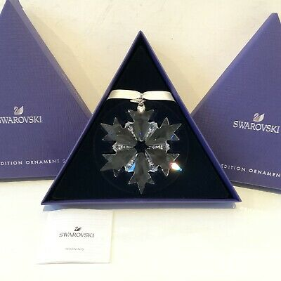 Authentic Swarovski Snowflake 2018 Ornament Christmas Star Boxed Collectors • 44£
