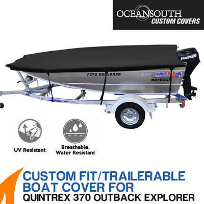 AU159 • Buy Oceansouth Custom Fit Boat Cover For Quintrex 370 Outback Explorer