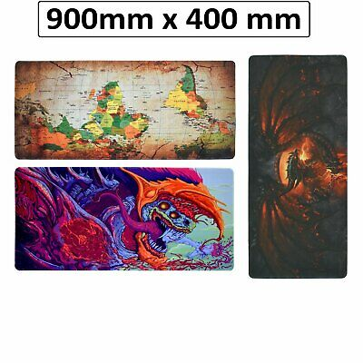 AU21.99 • Buy Extra Large Gaming Mouse Pad Desk Mat Anti-slip Rubber Speed Mousepad 90 X 40CM