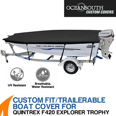 AU209 • Buy Oceansouth Custom Fit Boat Cover For Quintrex F420 Explorer Trophy Boat