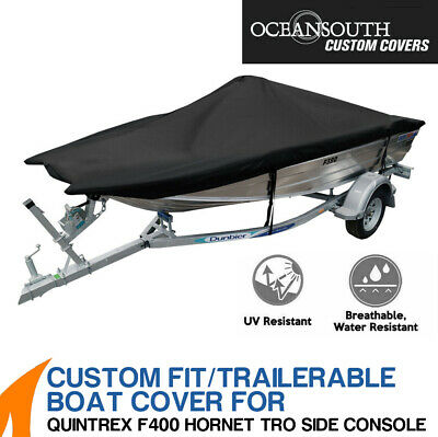 AU199 • Buy Oceansouth Custom Fit Boat Cover For Quintrex F400 Hornet Trophy Side Console