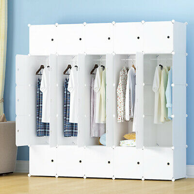 £32.99 • Buy DIY Clothes Cabinet Portable Wardrobe Hanging Armoire Space Ideal Storage Cube