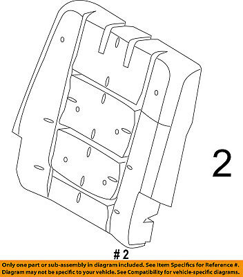 $263.21 • Buy FORD OEM 11-16 Explorer Third Row Seat-Seat Back Pad Right BB5Z7866800C