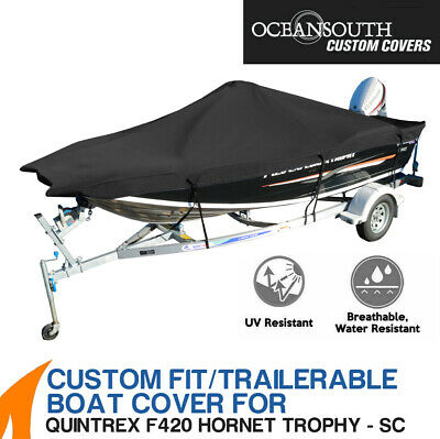 AU249 • Buy Oceansouth Custom Fit Boat Cover For Quintrex F420 Hornet Trophy Side Console