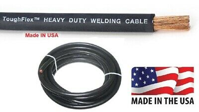 $ CDN100.72 • Buy WELDING CABLE # 2 AWG 50FT Black Welding Cable/ Battery Cable 600V US Made