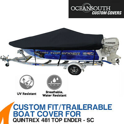 AU296.70 • Buy Oceansouth Custom Fit Boat Cover For Quintrex 481 Top Ender Side Console