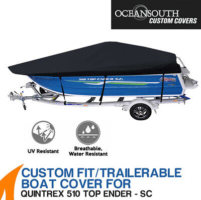 AU345 • Buy Oceansouth Custom Fit Boat Cover For Quintrex 510 Top Ender Side Console