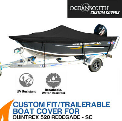 AU348.45 • Buy Oceansouth Custom Fit Boat Cover For Quintrex 520 Renegade Side Console
