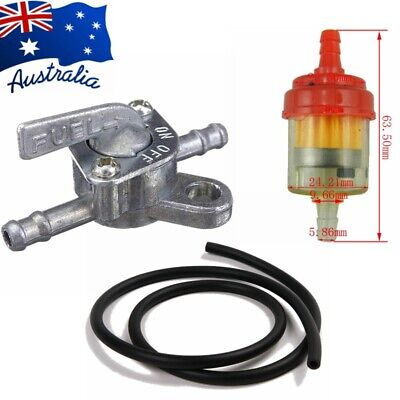 AU13.49 • Buy 6mm Inline Fuel Tank Tap Petcock Switch Oil Filter 1M Hose Dirt Bike Motorcycle