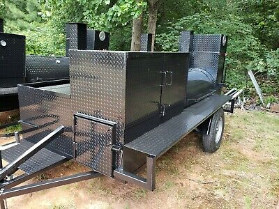 $4699 • Buy HogZilla BBQ Smoker Cooker Grill Clean Out Trailer Food Truck Catering Business