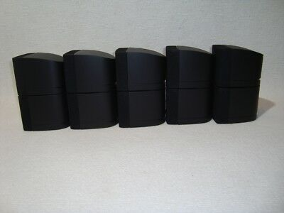 Top Bose Set 5x Doppelcube Speaker Black Acoutimass Lifestyle 5.1 • 275.53£