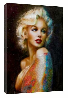 Beautiful Marilyn Monroe Oil Painting Reprint On Framed Canvas Art Home Decor • 10.49£