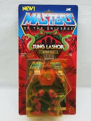 $475 • Buy MOTU,VINTAGE,TUNG LASHOR,PAINTED BACK,Masters Of The Universe,MOC,sealed,He-Man