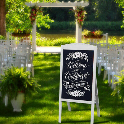 Free Standing A-Board Frame Pavement Sign Floor Sidewalk Chalkboard Party Cafe • 26.99£
