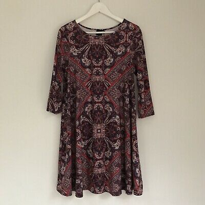 AU18.50 • Buy ASOS Womens Dress, Size 14, Paisley Peasant Gypsy Folk