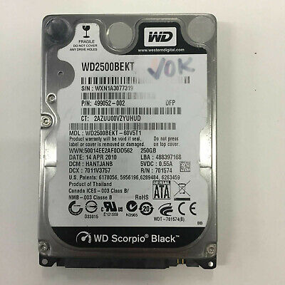 AU49 • Buy WD Scorpio Black 250GB 7200RPM 2.5  SATA 3.0Gbs HDD Hard Drive WD2500BEKT-60V5T1