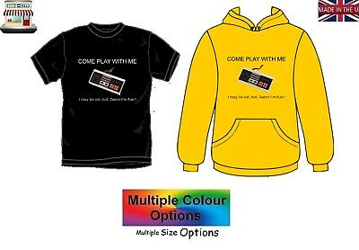 Come Play With Me Old But Fun Nes Gamer Nintendo Tee Shirt Tshirt Hoodie Cpl101 • 19.95£