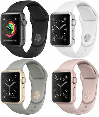 $ CDN118.30 • Buy Apple Watch Sport 42mm 38mm 2015 A1553 A1554 | GPS | Aluminum Case Silicone Band