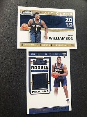 $45 • Buy Zion Williamson Contenders 2019-2020 Rookie  Ticket Relic & Draft Class Card