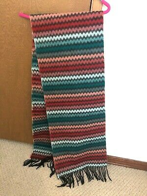 $20 • Buy 100% Cashmere Hand Tailored Made In Germany Multi Color Chevron Scarf NEW!