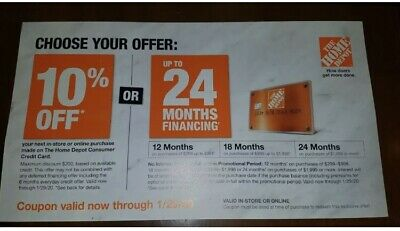 $5.50 • Buy Home Depot 10% OFF Or 0% Interest 24 Months!In Store Or Online Exp 1-29-20