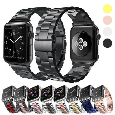 $ CDN6.64 • Buy For Apple Watch Series 5 4 3 2 1 Stainless Steel Wrist Band 38mm 40mm 42mm 44mm