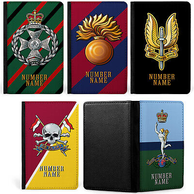 Personalised Military Passport Case Travel ID Card Holder Official Regiment TR • 8.95£