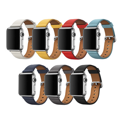 $ CDN11.78 • Buy For Apple Watch Band 38mm 40mm 42mm 44mm IWatch Series 5 4 3 2 1 Leather Strap