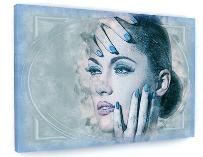 £23.45 • Buy Abstract Retro Woman Model Canvas Picture Print Wall Art C672