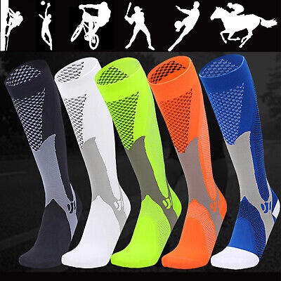 Pair Compression Socks Shin Splints Flight Travel Maternity Recovery Mens Womens • 9.86£