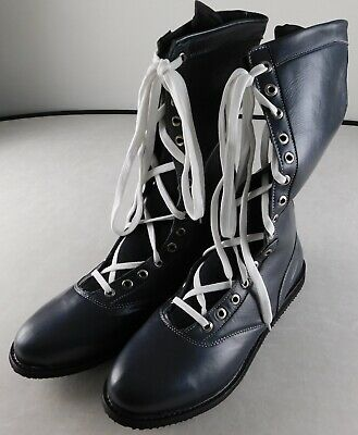 $149.99 • Buy Charcoal Grey Pro Wrestling Boots Size 13 Adult NEW Lucha Lucha Gear WWE New AEW
