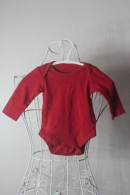 AU20 • Buy  John Lewis  Size Newborn, Baby Red Bodysuit, Great Condition. Bargain Price.