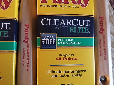 $65 • Buy Lot Of 6 Purdy 144152825 Clearcut Elite Glide 2.5  Paint Brushes