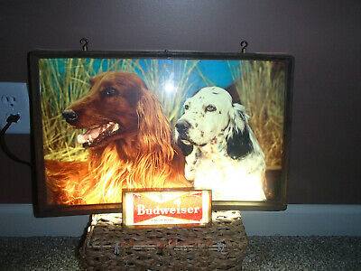$ CDN592.16 • Buy WORKS 1950's Budweiser King Of Beers Dogs Lighted Sign Approx14  X 20  Hunting