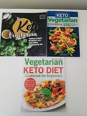 $9.95 • Buy Lot 3 Keto Vegetarian Cookbooks FREE SHIP Miller Mars Foster Vegetarian Keto