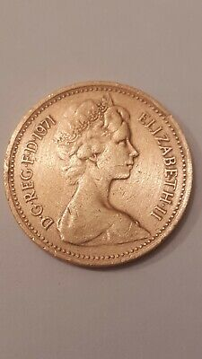 1971 New One Penny Coin Extremely Rare Good Condition Used • 2,430£